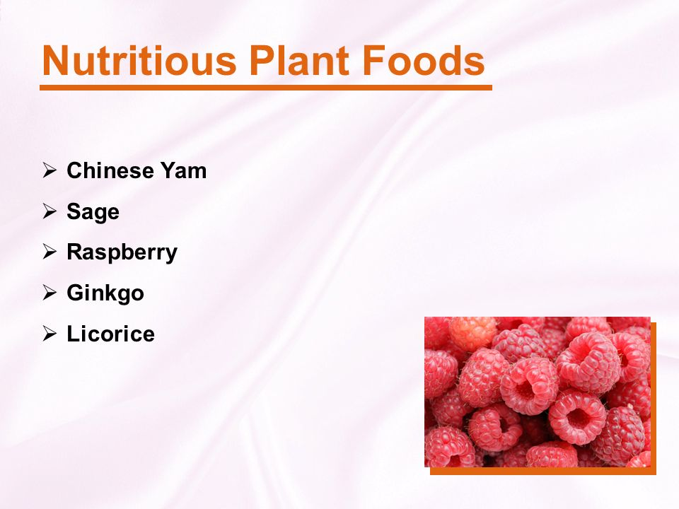 Nutritious Plant Foods