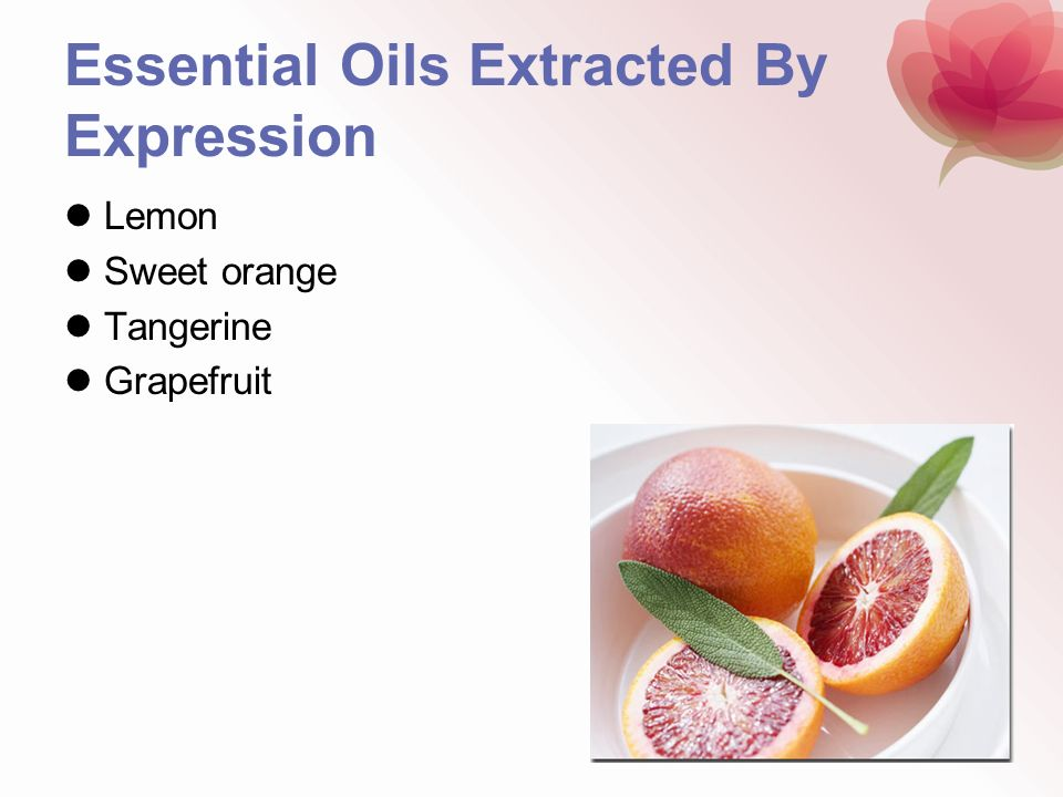 Essential Oils Extracted By Expression