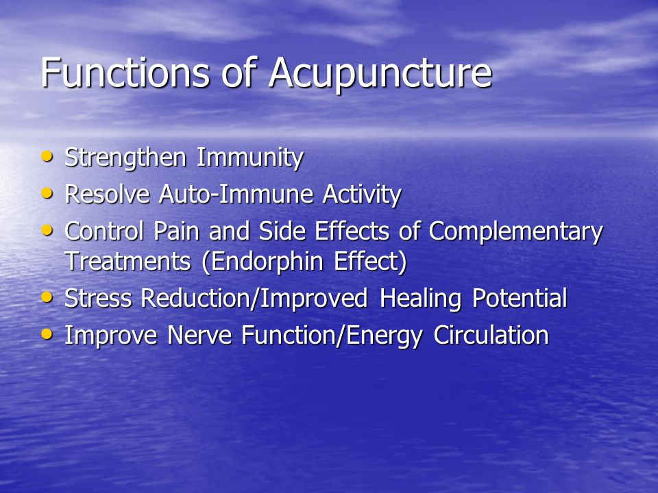 Functions of Acupuncture