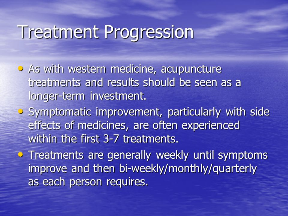 Treatment Progression