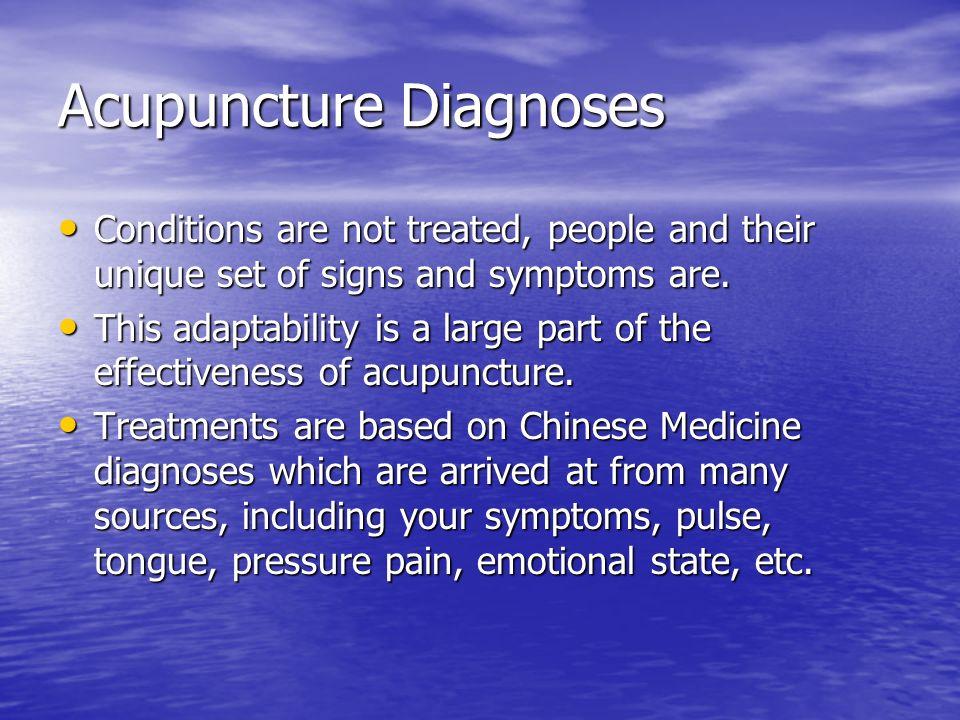 Acupuncture Diagnoses