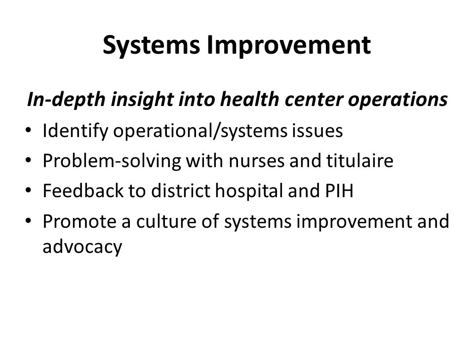 In-depth insight into health center operations