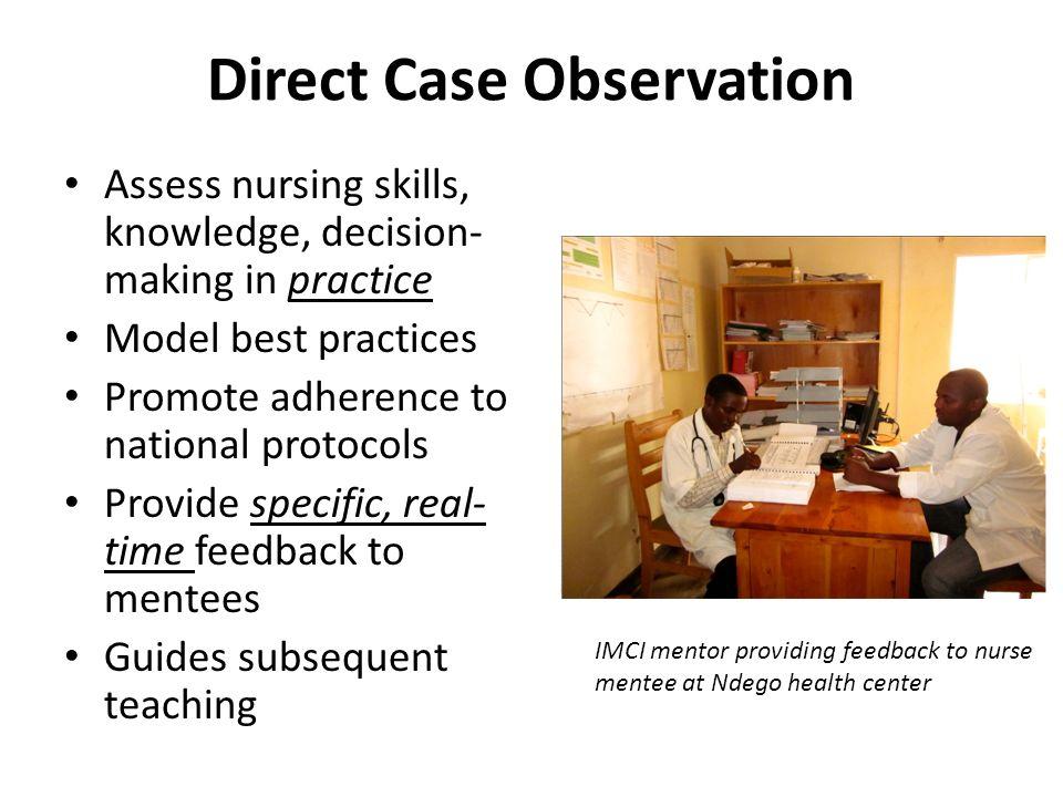 Direct Case Observation