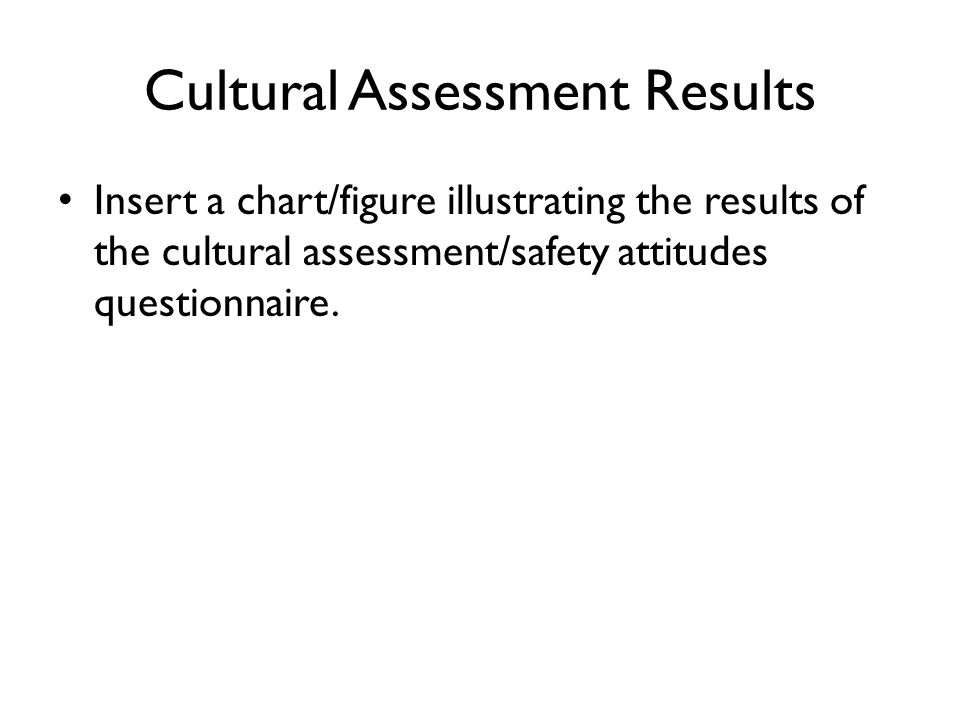 Cultural Assessment Results