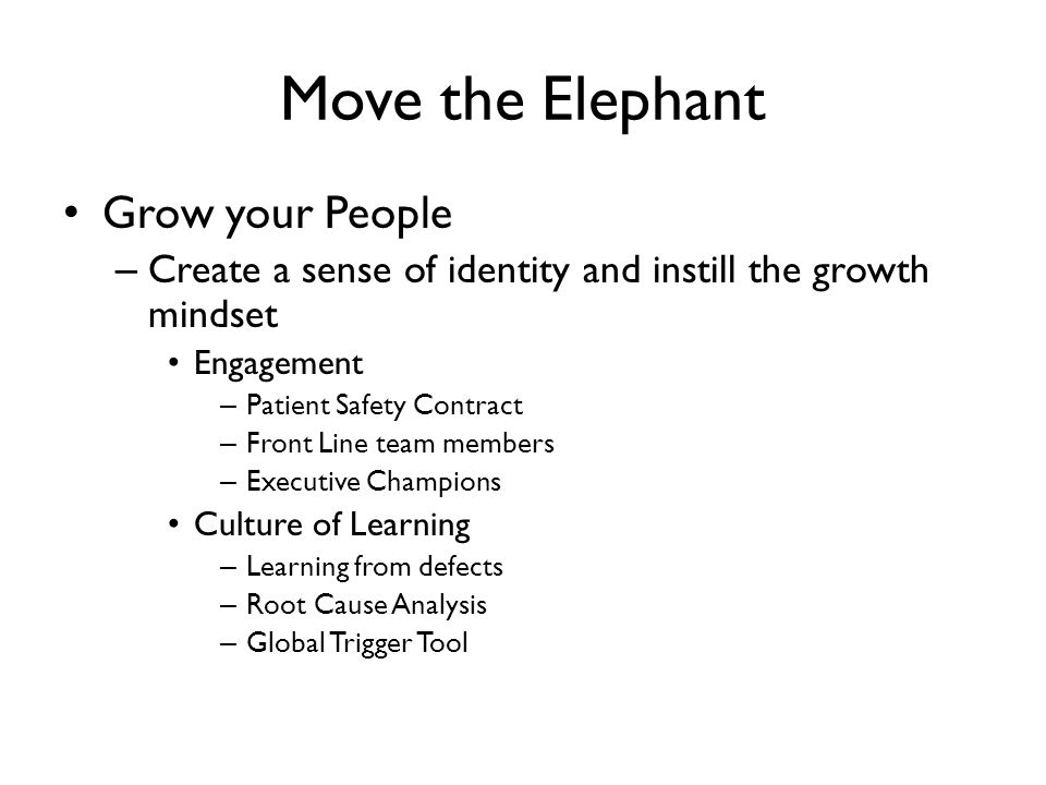 Move the Elephant Grow your People