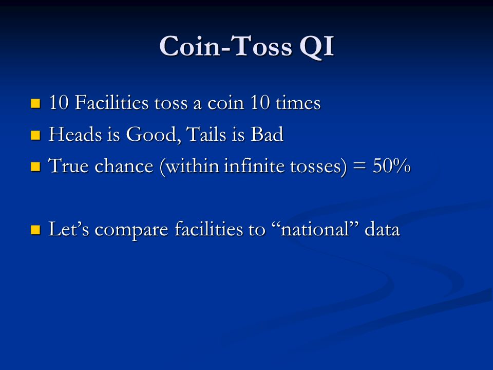 Coin-Toss QI 10 Facilities toss a coin 10 times