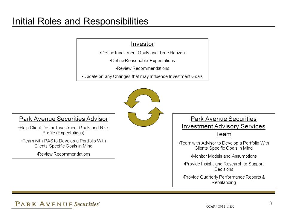 Initial Roles and Responsibilities
