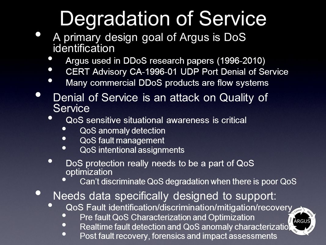 Degradation of Service