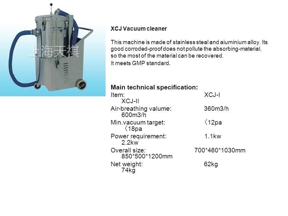 Main technical specification: Item: XCJ-I XCJ-II