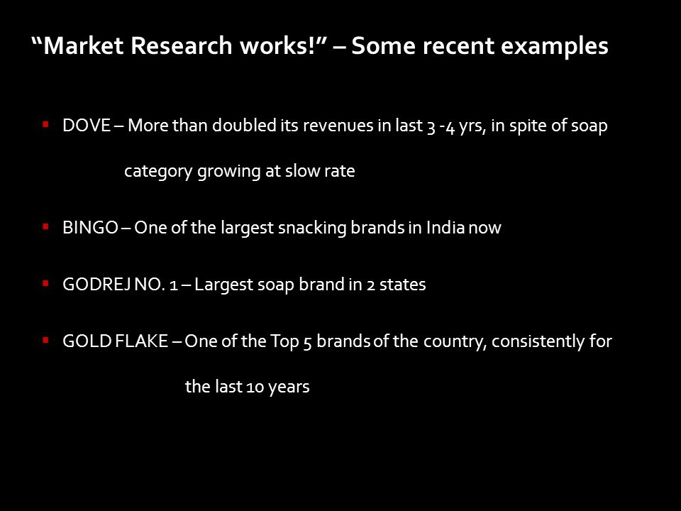Market Research works! – Some recent examples
