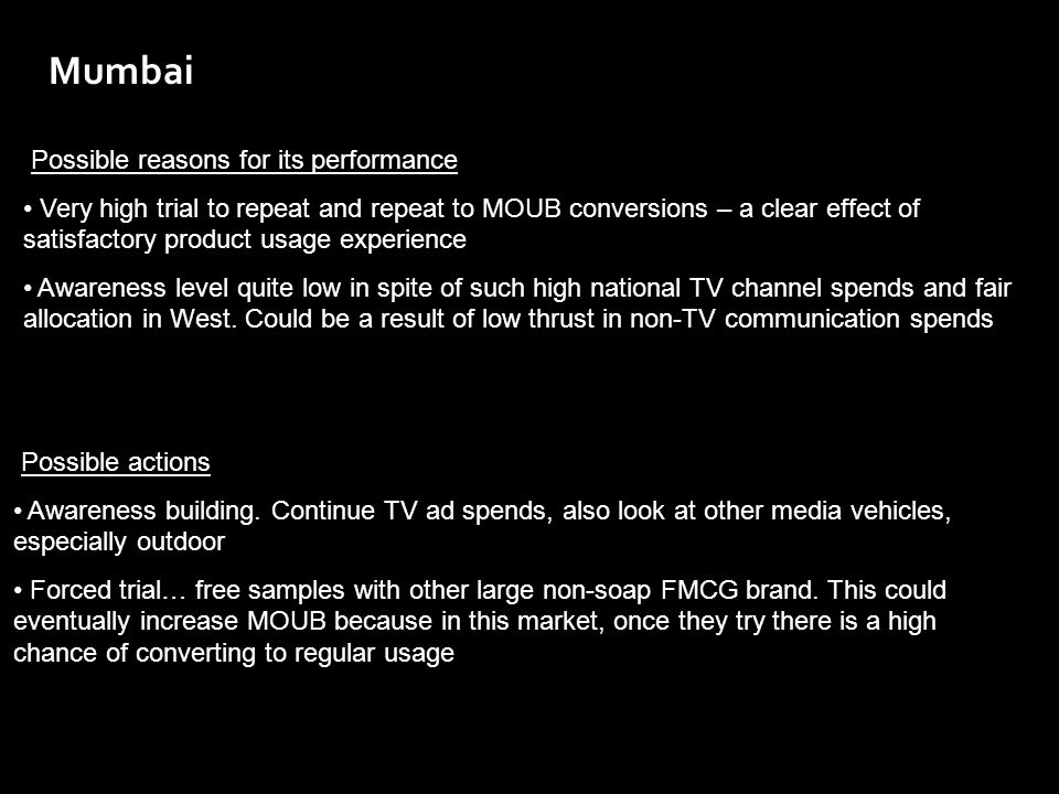 Mumbai Possible reasons for its performance