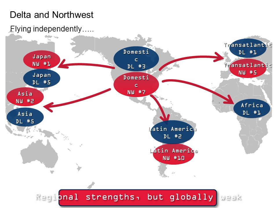 Regional strengths, but globally weak