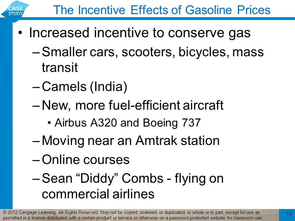 The Incentive Effects of Gasoline Prices