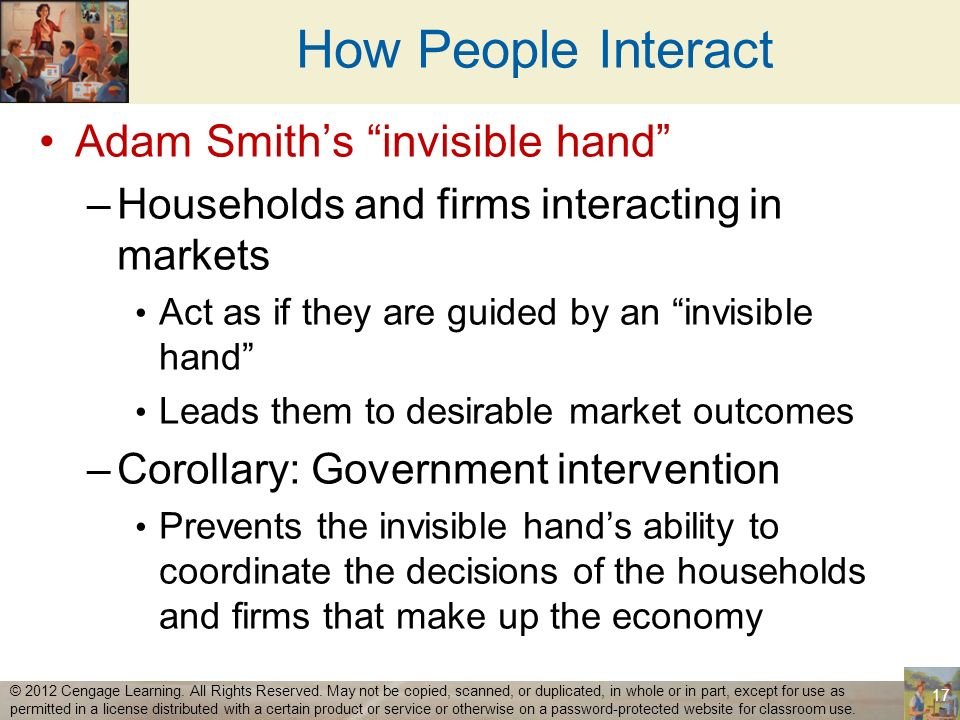 How People Interact Adam Smith's invisible hand