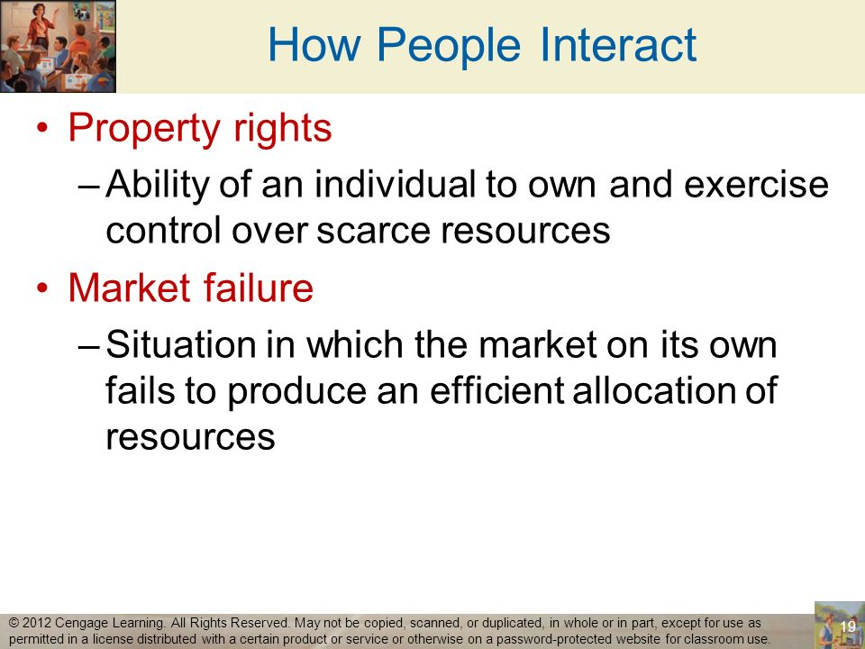 How People Interact Property rights Market failure