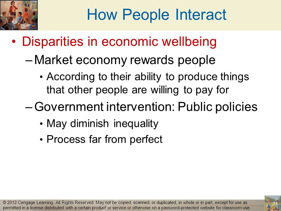 How People Interact Disparities in economic wellbeing
