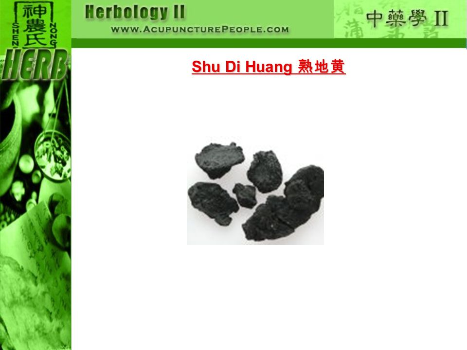 Shu Di Huang 熟地黄
