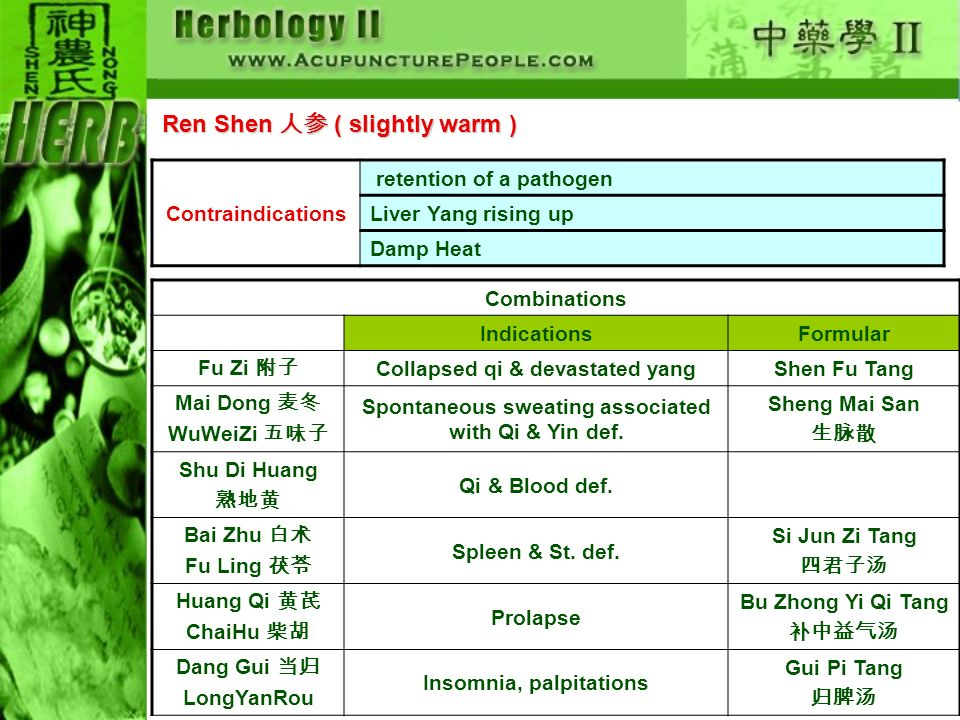Ren Shen 人参 ( slightly warm )