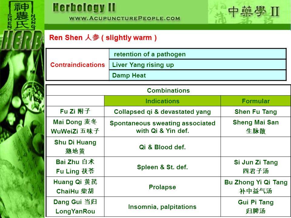 Ren Shen 人参 ( slightly warm )