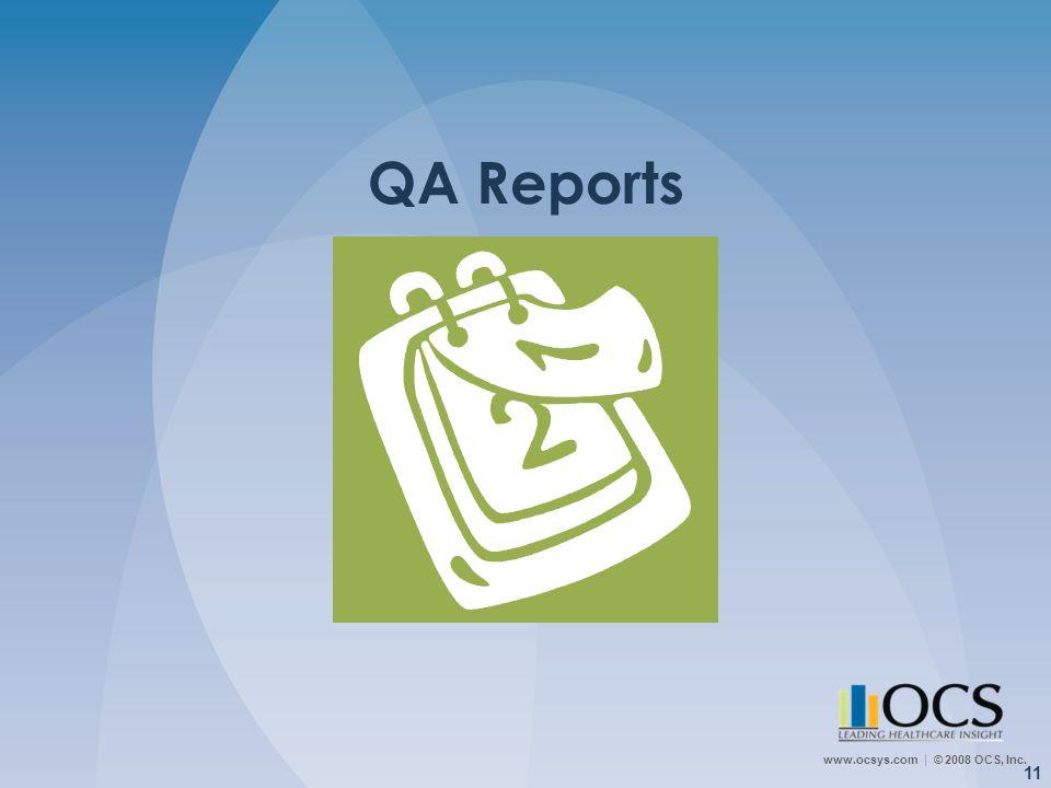 QA Reports