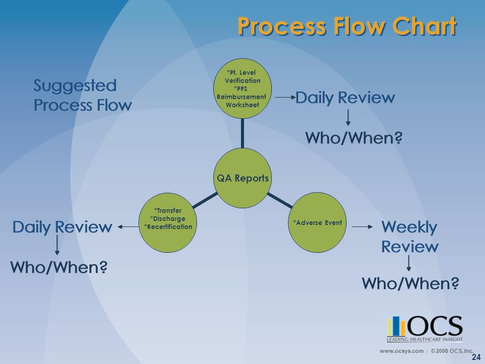 Process Flow Chart Suggested Process Flow Daily Review Who/When