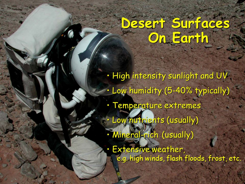 Desert Surfaces On Earth