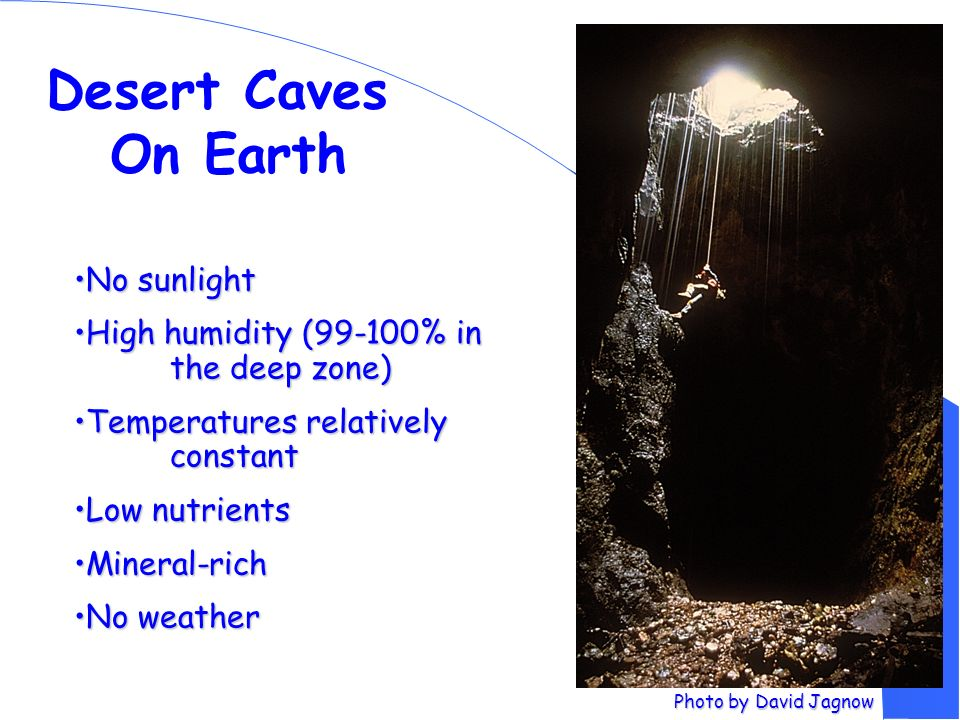 Desert Caves On Earth No sunlight