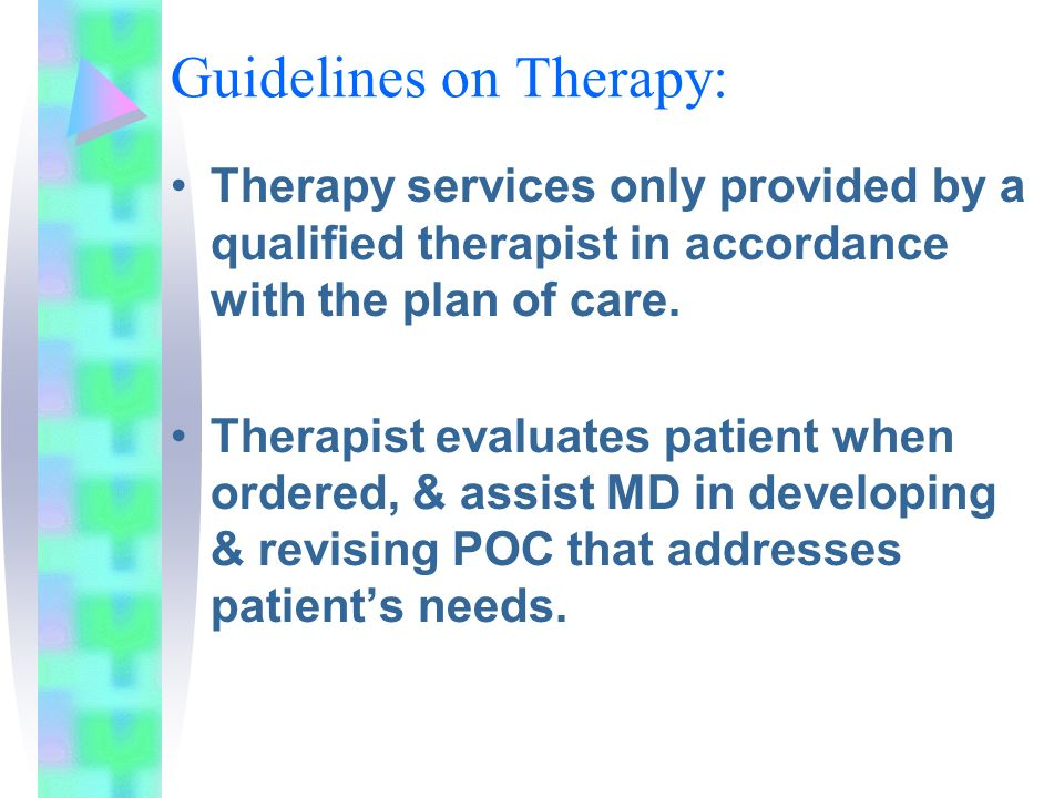 Guidelines on Therapy: