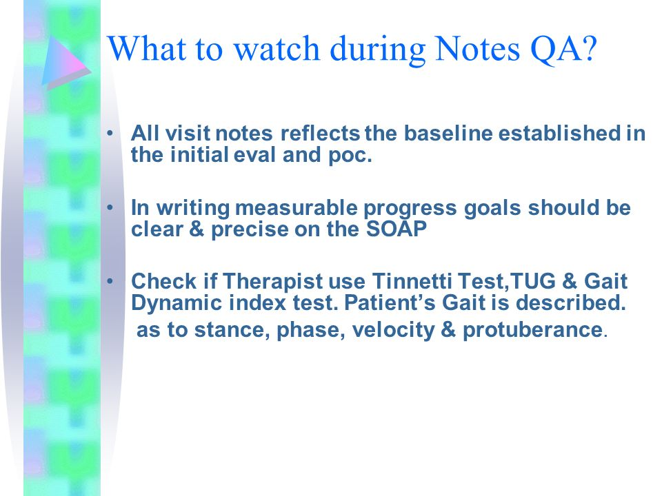 What to watch during Notes QA