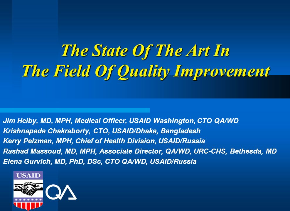 The State Of The Art In The Field Of Quality Improvement
