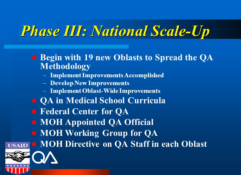 Phase III: National Scale-Up