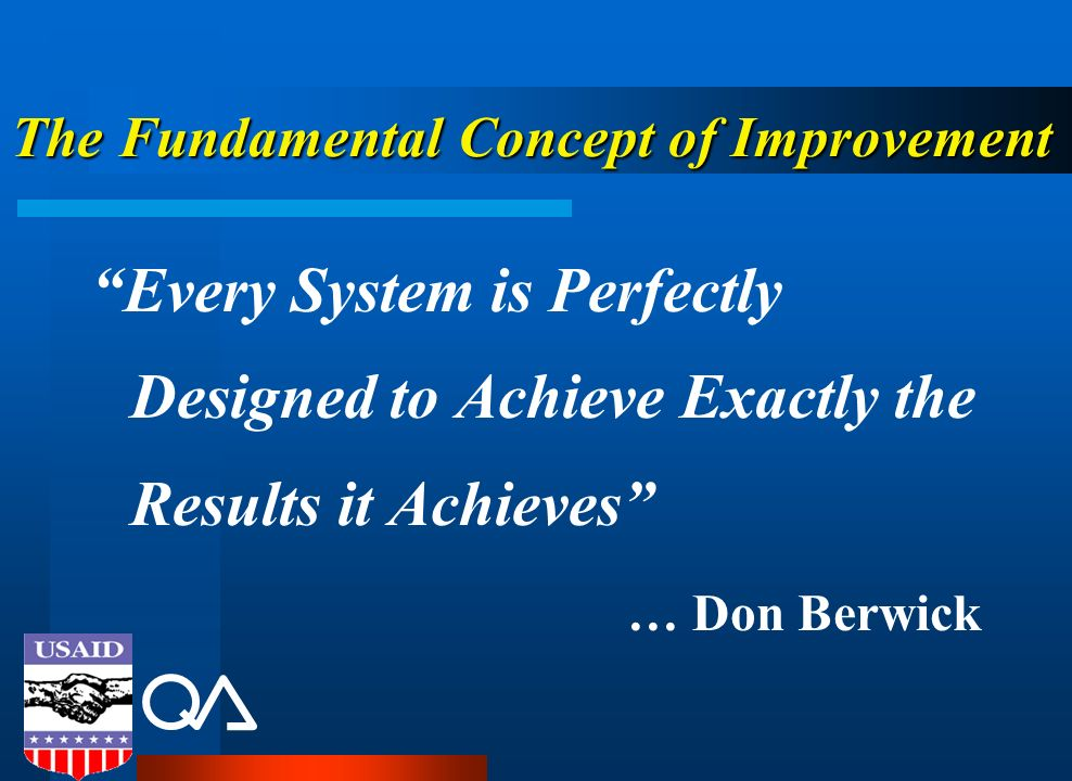 The Fundamental Concept of Improvement