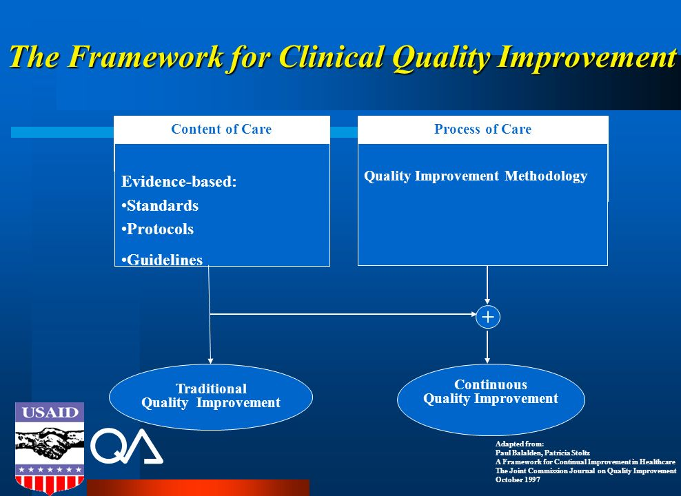 The Framework for Clinical Quality Improvement