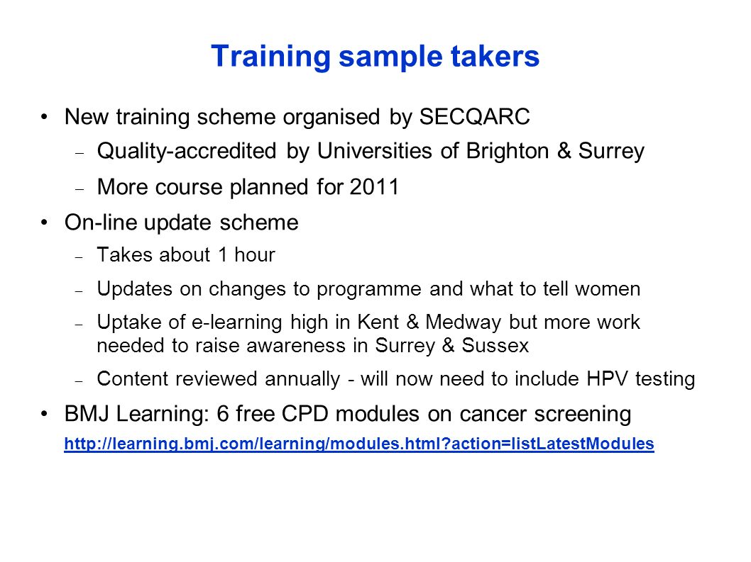 Training sample takers