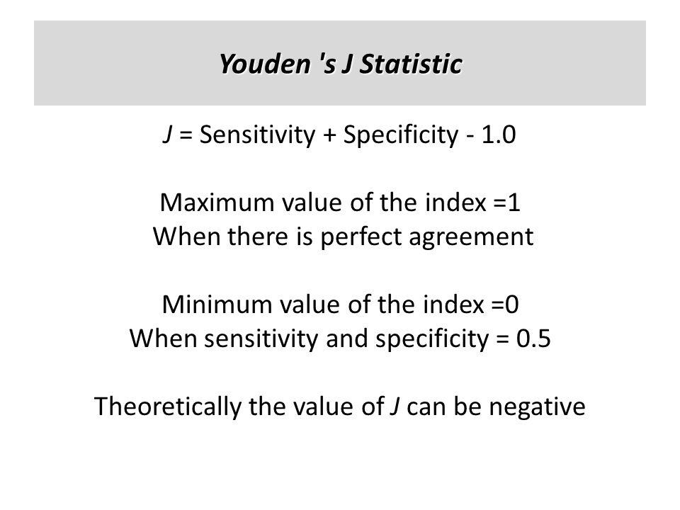 Youden s J Statistic