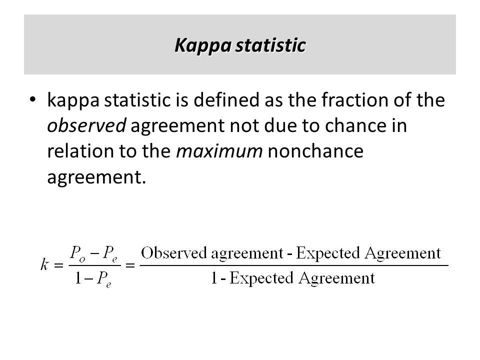 Kappa statistic