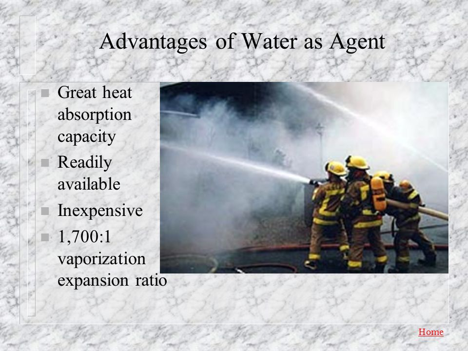 Advantages of Water as Agent