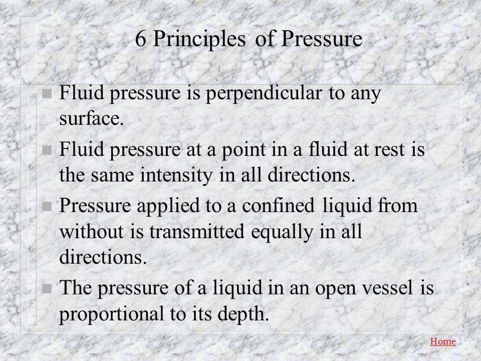 6 Principles of Pressure