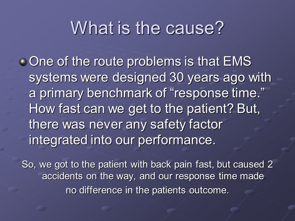 no difference in the patients outcome.