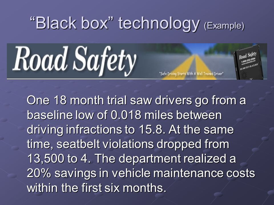 Black box technology (Example)
