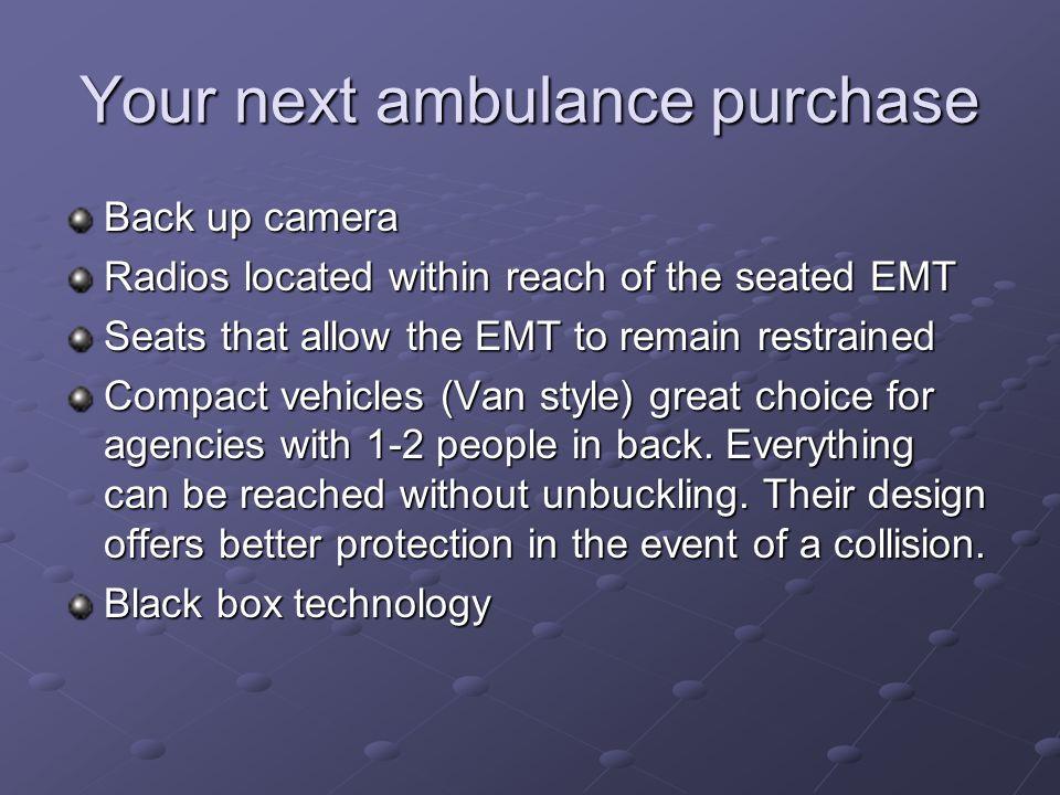 Your next ambulance purchase