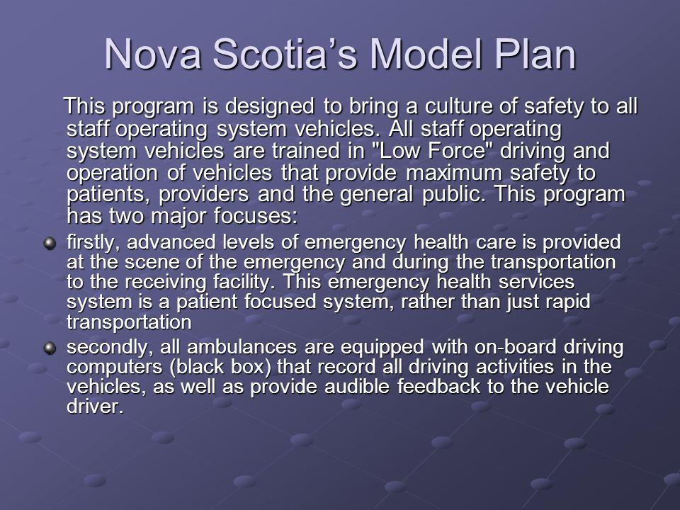 Nova Scotia's Model Plan