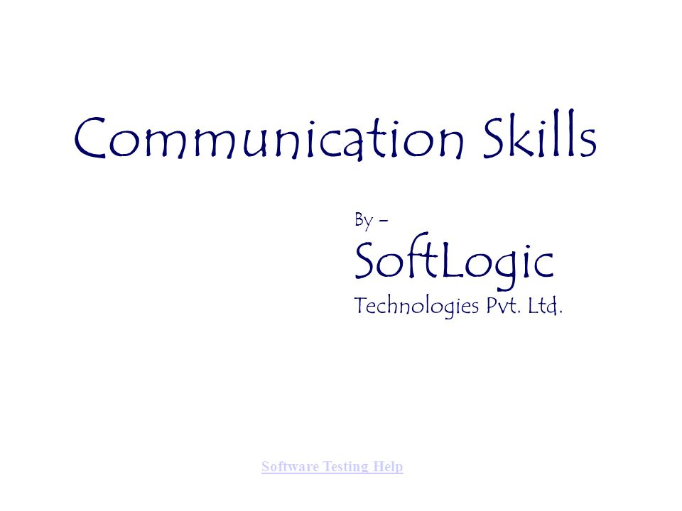 Communication Skills Technologies Pvt. Ltd. By – SoftLogic