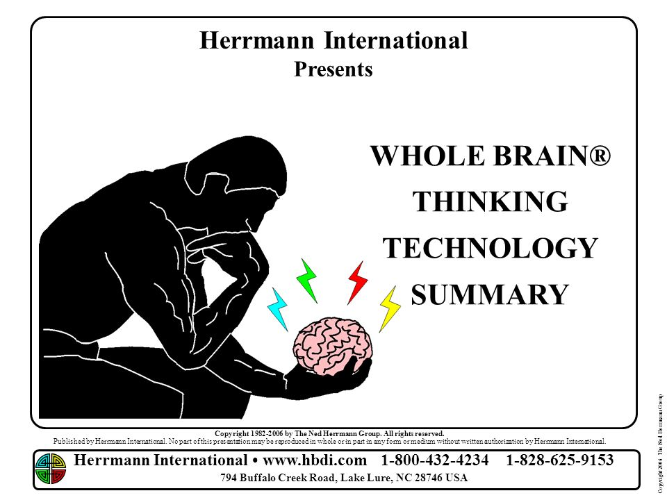 Herrmann International WHOLE BRAIN® THINKING TECHNOLOGY