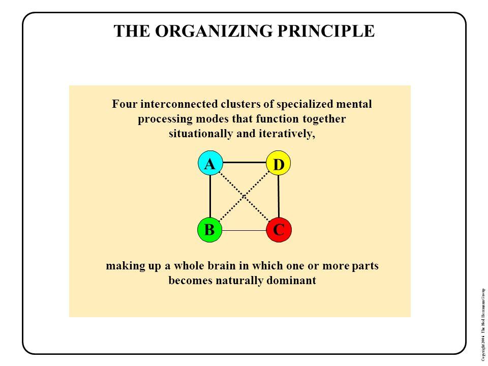 THE ORGANIZING PRINCIPLE