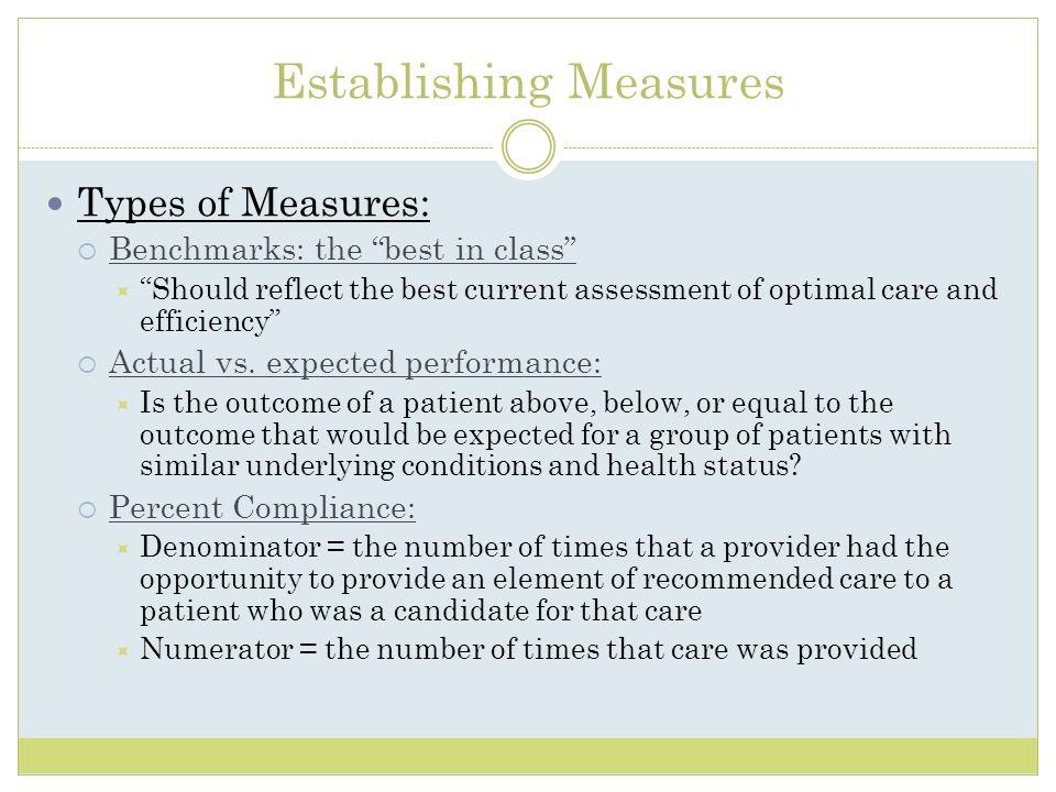 Establishing Measures