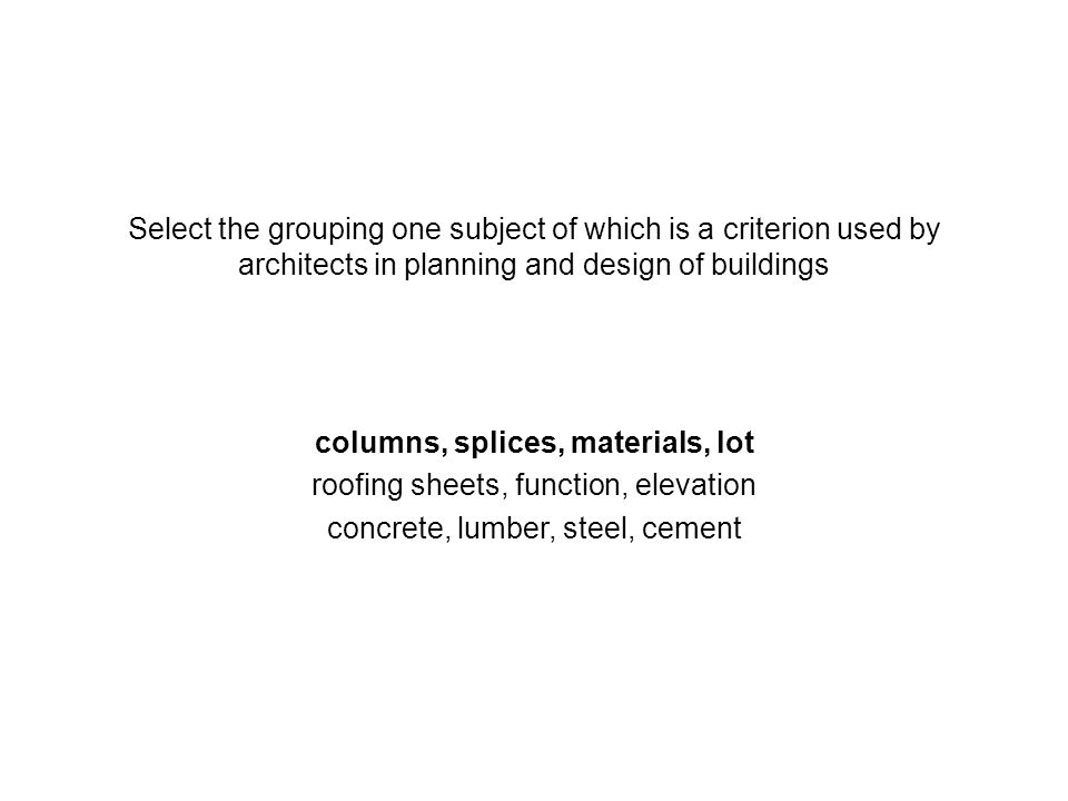 columns, splices, materials, lot