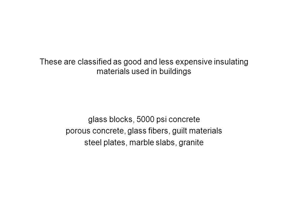 glass blocks, 5000 psi concrete