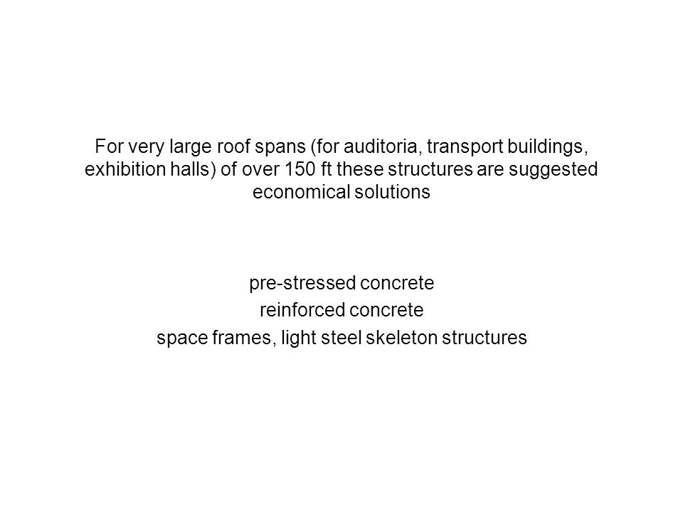pre-stressed concrete reinforced concrete
