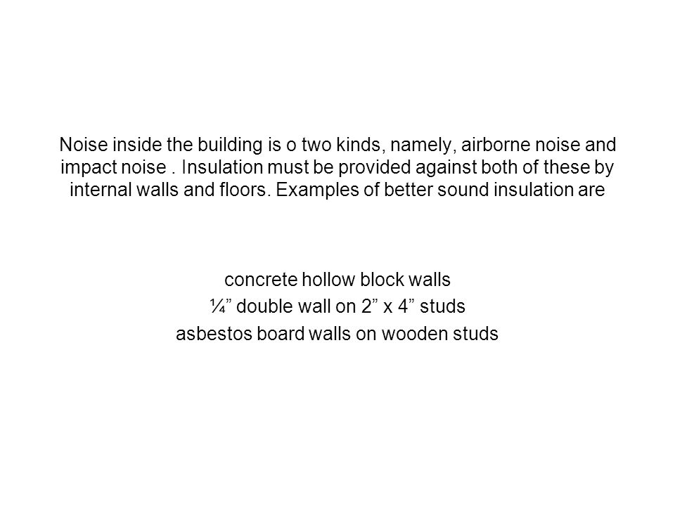concrete hollow block walls ¼ double wall on 2 x 4 studs